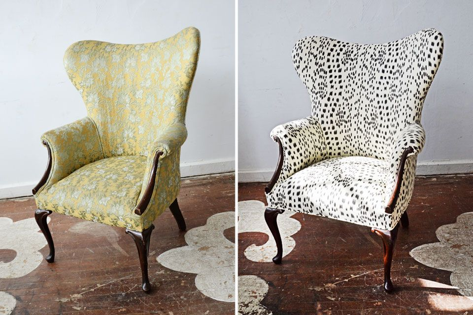 идеи обивки стульев